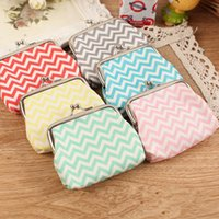 adult business cards - 2016 Zigzag Chevron wavy coin purse Women girl cute mini wave stripe coin purse Faux Leather zero wallet children adult coins purse wallet