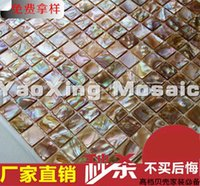 Wholesale 2016 shell mosaic tile mother of pearl natural colorful kitchen backsplash tile bathroom background wall tile
