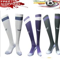 Wholesale Thai quality real madrid long Football socks Third Black Purple shirts Ronaldo Bale James Kroos Ramos uniforms jerseys