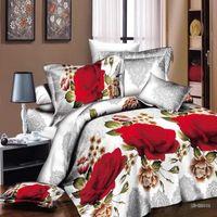 Cheap Rose 3d bedding sets, high quality bed linen, HD 3D bedding sets, with bedsheet   pillowcase, queen size, no quilt