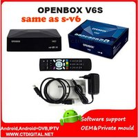 Cheap Original Openbox V6S 10pcs Mini Digital Satellite Receiver all same as S-V6 S V6 with AV HDMI WEB TV USB Wifi 3G CCCAMD