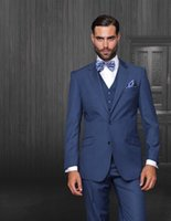 best mens dress pants - Newest Navy Blue Wedding Mens Suits Groom Tuxedos Notched Lapel Groomsman Business Performance Party Dress Best Man Wears Jacket Pant