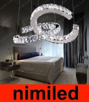 amber crystal stores - nimi790 Creative LED Chandelier Clear Amber Crystal Pendant Lamp Living Room Restaurant Bedroom Droplight Clothing Store Cafe Light