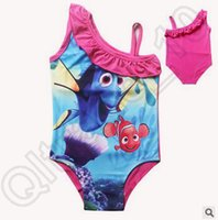 beach bathing girls - Finding Dory Kids Swimsuits Finding Nemo Kids One piece Swimwear Bikini Children Summer Bathing Swimwear Kids Beach Swimwear CCA4488