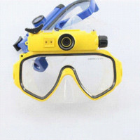 Wholesale 2015 Real Yellow Automatic Vacuum New Scuba Series Hd p Underwater Digital Camera Waterproof Video Diving Mask Shippingfree