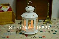 Wholesale White Classical Iron Candle Holder Wedding lantern Metal Candle Holder Star design Wedding Decoration