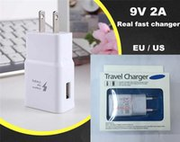 Wholesale Quick Charge V A USB Fast charger Adapter Fast Charging adaptor V EU US Plug travel Wall Charger For Samsung Galaxy S7 S6 Edge Note