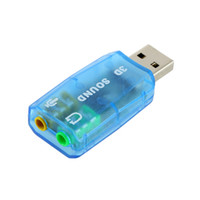 audio cable for surround sound - 1pc D Audio Card USB Mic Speaker Adapter Surround Sound CH for Laptop notebook Newest