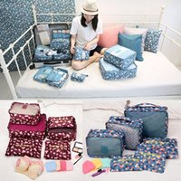 bamboo laundry - 6Pcs Travel Storage Bags Set Clothes Underwear Laundry Pouch Luggage Organizer For Home Closet Divider Container Organiser