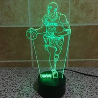 Wholesale Kobe D Illusion Light Ton LED Lamp Colors Change Art Sculpture Lights Produces Unique D Night Desk Light