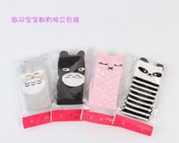 bamboo panda socks - 2016 Fashion unisex cartoon Animal leg warmers baby girls boys knee high Totoro Panda Fox socks kids cute Striped Knee Pad sock BY0000