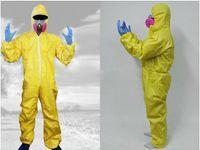 Wholesale Breaking Bad Hazmat Lab Walter White Jumpsuit Costume with Half Mask Gloves