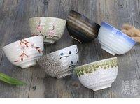 Wholesale porcelain rice bowl soup bowl vintage style creatie graphics beautiful glaze inch