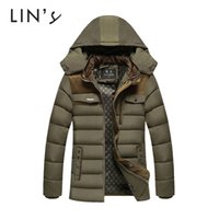 Wholesale Fall Winter Jacket Men Brand Clothing Hoody Coat Thick Warm Outdoor Solid Quilted Sport Casual Manteau Hiver Homme