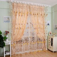 balcony sun shades - 2PCS M M Window Curtains Sheer Voile Tulle for Bedroom Living Room Balcony Kitchen Printed Tulip Pattern Sun shading Curtain