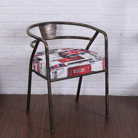 Wholesale New Metal Cushion Dining Chiars Hot selling Antique Leather High Quality Factory Price Bar Chairs