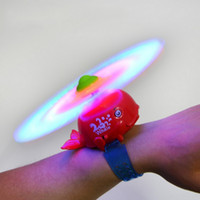 Wholesale wrist electric Windmill led shining and music rotation cartoon whale