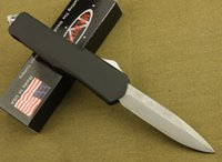 Wholesale Microtech Troodon Switchblade Damascus Blade HRC Steel handle Kinfe survival EDC outdoor