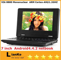 Wholesale laptop Android4 Windows CE webcam M G wifi inch VIA mini netbook laptop DHL