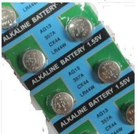 Wholesale 10x AG13 LR44 A L1154 G13A A76 Watch Timer Clock Cell Button Batteries