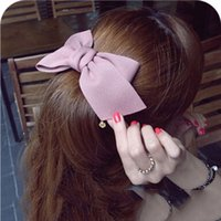big hairclip - New Fashion Korean Big Bowknot Barrettes Hairclip Girls Hair Accessories for Women Headwear for Beach Colors Can Be Choosed
