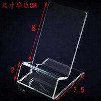 Wholesale DHL fast delivery Acrylic Cell phone mobile phone Display Stands Holder stand for inch iphone samsung HTC