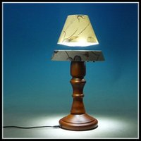 Wholesale 1 dhl free new Floating LED table lamp with rotation function Magnetic levitationg desk lamp for home bedroom