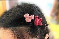 baby folder - Korean children baby small gripper headdress princess Liu Strait hair accessories hairpin side folder plastic Mickey