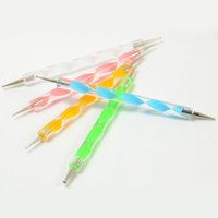 Wholesale 5Pcs Dotting Pen Marbleizing Tool Nail Art Design Dot Tools K00028 SMAD