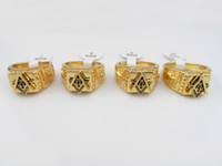 Wholesale 2016 popular Hip Hop rings Masonic ringsfor men women gold plated fashion jewelry Top Grade