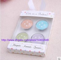 Wholesale 500sets Cute as a Button Magnets Baby Shower Christening Baptism Favour Bomboniere wedding party gift