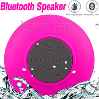 Universal mini mini mp3 - Waterproof Speaker Wireless Shower Handsfree Bluetooth Speakers Car Waterproof Portable mini MP3 Super Bass Receive Call Music In BOX