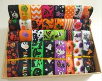 Wholesale NEW random set mix10 style mm cool Halloween printed grosgrain ribbons Y style WSRD010