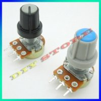 Wholesale holesale KOHM potentiometer WH148 B with knobs potentiometer knob potentiometer trimmer potentiometer