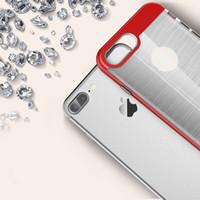 al por mayor i caja del teléfono híbrido-Para iPhone7 Neo híbrido teléfono móvil caso para i teléfono 6s TPU + PC Wire dibujo caso para iPhone SE 5 5s 6 7 Plus