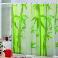 bamboo fabric sale - 180 x cm Hot Sale Eco Friendly Green Bamboo Waterproof Fabric Bathroom Shower Curtain With Hooks