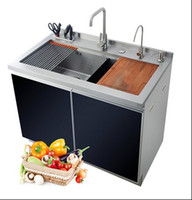 Wholesale wholesales Hot sales handmade custom integrated stainless steel sink stainless steel double sink