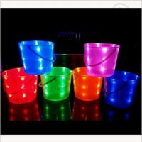 light up bucket - Creative Light Up Halloween Bucket Solid colors Plastic Party Supplies New Arrival Light Up Halloween Bucket Halloween Supply CCA4482