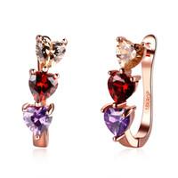 Wholesale Hot Sale Women Luxury Stud Earrings Fashion Jewelry Zircon Rose Gold Earrings High Quality Dangle Earring For Women