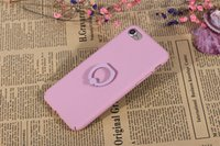 anti skid surfacing - Pure Colorful Phone Cases For apple iPhone plus Case UV Painting Phone Cases Anti skid Cover Surface with ring holder