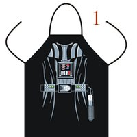 Wholesale useful Giant Apron Star Wars Anime Cartoon Character Darth Vader Kitchen Aprons Funny Personality Cooking apron New Year Gift