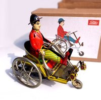 bicycle figure - Classic Iron Bicycle Robots Tin Toys Robot Wind Up Toys For Boys Vintage Handmade Crafts