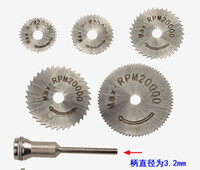 Wholesale 5pcs Saw Blade one mm Shank HSS Cutting Disc Electric Grinding Mill Drill Accessories Hanging Grinder Saw Blade Cutting Metal Copper Wood