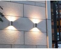 Wholesale European style villa contracted creative double wall lamp LED outdoor patio door waterproof outdoor garden lamps and lanterns