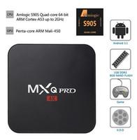Wholesale Original MXQ PRO Amlogic S905 bits Quad Core GB GB Android TV Box K K HDMI KODI Miracast DLNA Pre installed