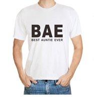 best english shirts - Bae Best Auntie Ever On English Monogram Men S Fashion Simple Grade Cotton T Shirt