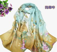 Wholesale China style scarves for women price colors chiffon magpie pattern beach scarf Sarongs for lady XQ06