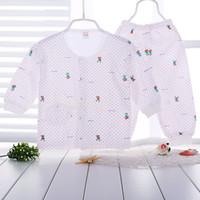 air condition suit - 2016 autumn pure cotton children s underwear suit cartoon baby underwear air conditioning clothing newborns clothes