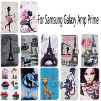 amp cases - For Samsung Galaxy Amp Prime Fashion Protective Cover Skin Pouch With Card Slot PU Leather Case Phone Case