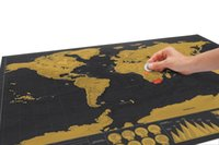 Wholesale Scratch Colorful Paper World Map Gold Foil Layer With Retail Package x59 cm Hot Item New Design